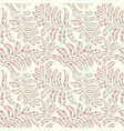 floral pattern with leaves leaf seamless texture vector image vector image