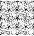 flowers seamless background black and white vector image