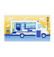 food truck with menu sign on food festival fair vector image