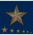 gold sequin star on a blue background vector image vector image