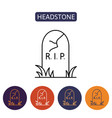 grave icon flat design vector image