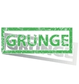 Green outlined GRUNGE stamp vector image vector image