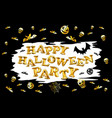halloween 2016 party label template with pumpkin vector image vector image