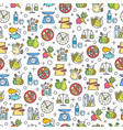 healthy diet icons seamless pattern vector image vector image