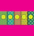 Ikat seamless pattern set of traditional uzbek