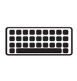 keyboard icon on white background keyboard sign vector image vector image
