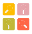 Magnifying Glasses Flat Design Square Icons Set vector image vector image