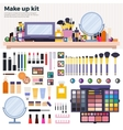 Make up kit on the table vector image vector image