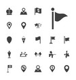 marker icons vector image vector image