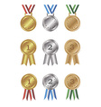 Medals and awards set vector image vector image