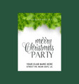 merry christmas card with creative design and vector image vector image