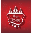Merry Christmas hand drawn background vector image