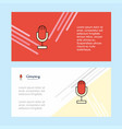 microphone abstract corporate business banner vector image