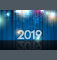 new year 2019 abstract background stage and blue vector image vector image