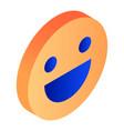 orange smile icon isometric style vector image