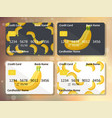 original fruit credit card design vector image vector image