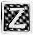 Polka Dot Font LETTER Z vector image vector image