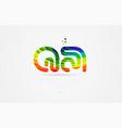 qa q a rainbow colored alphabet letter logo vector image vector image