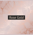 rose gold decorative pattern for design and vector image vector image