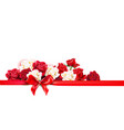 roses decoratin banner vector image vector image