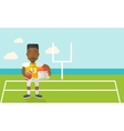 Rugby player on stadium vector image vector image