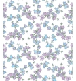 Seamless pattern with bellflowers Floral ornament vector image