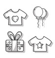 set cute babies tools icons vector image vector image