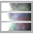 Set of abstract christmas banners vector image vector image