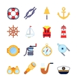 Set of colorful yachting icons Sailing symbols vector image