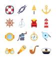 Set of colorful yachting icons Sailing symbols vector image