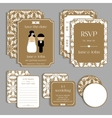 Set of floral vintage wedding cards Wedding vector image
