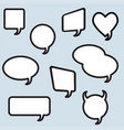 speech bubble linear icons collection chat web vector image
