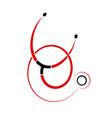 stethoscope or phonendoscope on logo or emblem vector image