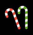 sugar cane merry christmas icon set flat design vector image vector image