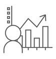 user analysis thin line icon data and analytics vector image