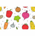 vegetables pattern vector image vector image