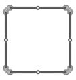 Vintage doodle border frame vector image vector image