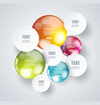 white paper circles with bright spheres on a vector image vector image