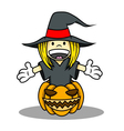 Witch Costume for Halloween vector image