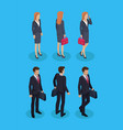 woman and businessman set vector image vector image