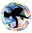 women silhouette crane yoga pose bakasana vector image