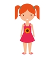 young woman with summer fashion vector image