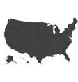 map of usa - rhode island vector image