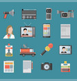 color flat icon set and modern information vector image