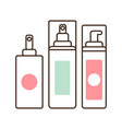 cosmetics collection of sprays vector image