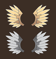 Gold wing vector image