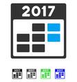 2017 calendar week flat icon vector image vector image