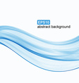 Abstract background Blue waves on white background vector image vector image