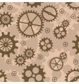 abstract background with mechanism cogs vector image
