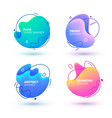abstract fluid trendy gradient banner design shape vector image